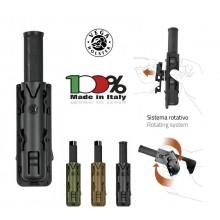 Porta bastone 21 in Polimero Stampato a Iniezione Nero Tan Verde OD Vega Holster Italia Art. 8VP60