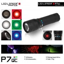 Torcia Professionale Led Lenser® P7QC 220 Lm 4 Colori di Luce Polizia Carabinieri G. di F. Rileva Impronte Art.89407-Q
