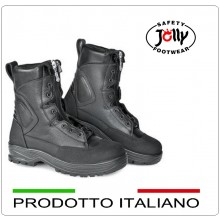 Stivaletto Boots Scarponcini in Pelle idrorepellente Jolly Safety Footwear Nero 9600-A Art.9600/A
