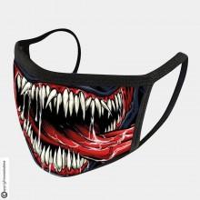 Mascherina Protettiva Modello Unisex Specifica Venom Denti Lingua Lavabile 200 Volte  Art. NSD-C3