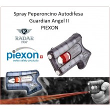 Piexon Spray Antiagressione Difesa Personale Guardian Angel II Libera Vendita Distribuita da Radar 1957 Peperoncino Art.8200-0079