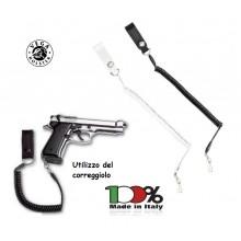 Correggiolo a Nastro per Pistola Passante In Pelle con finali termofusi. Vari Colori Vega Holster Art. 1V20