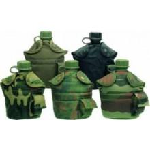 Borraccia Militare 1 Litro Verde - Nera - Woodland - Vegetata  Art.33213