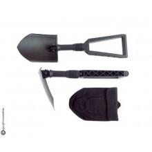 Badile Pala Pieghevole Modello Militare Nera con Custodia Cordura Soccorso Emergenza Protezione Civile Art. 431132