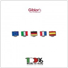 Pins Spilla da Bavero Bandiere Italia Spagna Germania Francia  Europa Giblor's Italia  Art.A035