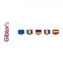 Pins Spilla da Bavero Bandiere Italia Spagna Germania Francia  Europa Giblor's Italia  Art. A035