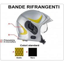 Adesivi Originali Rifrangenti Ricambio Per Casco Sicor Vigili del Fuoco VVFF Modello Nuovo EVO Art.5227000308