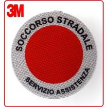 Adesivo 3M Per Paletta Rosso Soccorso Stradale Servizio Assistenza  Art.R0SSSA