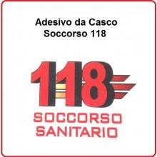 Adesivo da Casco 118 Soccorso Sanitario Modello 2 Art.AD-118-2