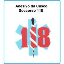 Adesivo da Casco 118 Soccorso Sanitario Modello 1 Art.AD-118-1