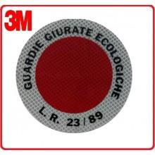 Adesivo 3M Per Paletta Rosso Guardie Giurate Ecologiche Art.R0088