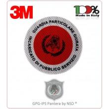Adesivo di Ricambio 3M Per Paletta Rosso Guardie Particolari Giurate Incaricato di Pubblico Servizio GPG IPS 1931 PANTERA Art.AD-PANTERA