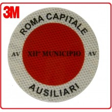 Adesivo Per Paletta Rosso Roma Capitale Ausiliari  3M Art.R00334