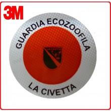 Adesivo Per Paletta Rosso Guardie Ecozoofile La Civetta Art.R00128