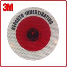 Adesivo 3M Per Paletta Rosso Reparto Investigativo Art.PAL-REP-NEW