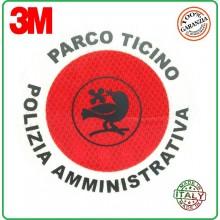 Adesivo di Ricambio per Paletta cm 15.50 classe III° Omologato A.V. Alta Rifarzione Nido D'ape Parco Ticino Polizia Amministrativa Art.R0-PTPA