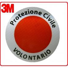 Adesivo 3M Per Paletta Rosso Protezione Civile Volontari Senza Logo Art.R00127