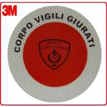 Adesivo 3M Per Paletta Rosso Corpo Vigili Giurate Art.R0017