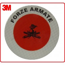 Adesivo 3M Per Paletta Rosso Protezione Forze Armate Art.R0028