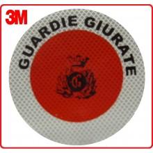 Adesivo 3M Per Paletta Rosso Guardie Giurate Art.R0018