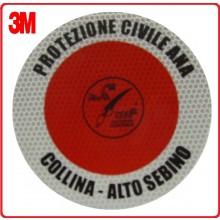 Adesivo 3M Per Paletta Rosso Protezione Civile + A.N.A Associazione Nazionale Alpini .Art.R0030