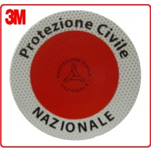 Adesivo 3M Per Paletta Rosso Protezione Civile Nazionale  Art.R0019