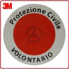 Adesivo 3M Per Paletta Rosso Protezione Civile Volontario Art.R0020
