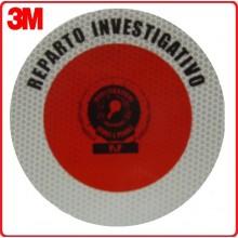 Adesivo 3M Per Paletta Rosso Reparto Investigativo Art Art.R0015