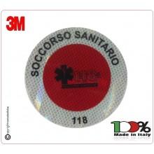 Adesivo Per Paletta Rosso Soccorso Sanitario 118.Art.PAL118