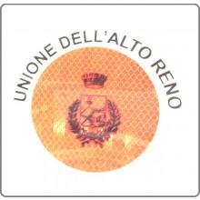 Adesivo Per Paletta Rosso 3M Unione Dell'Alto Reno  Art.A-DAR