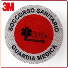 Adesivo Per Paletta Rosso Soccorso Sanitario 118 Guardia Medica Art.PAL118GM