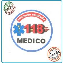 Adesivo Soccorso Soccorritore 118 MEDICO cm 9,00  Prodotto Italiano Art.118-A3