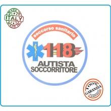 Adesivo Soccorso Soccorritore 118 AUTISTA SOCCORRITORE cm 9,00 Prodotto Italiano Art.118-A4