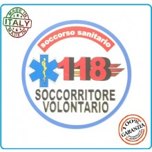 Adesivo Soccorso Soccorritore 118 SOCCORRITORE VOLONTARIO cm 9,00 Prodotto Italiano Art.118-A5