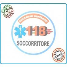 Adesivo Soccorso Soccorritore 118 SOCCORRITORE cm 9,00 Prodotto Italiano Art.118-A6