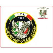 Adesivo o Vetrofania Guardia Particolare Giurata Incaricato di Pubblico Servizio GPG I.P.S. Art.IPS-2