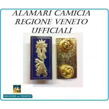 Mostrine Alamari da Colletto Camicia Molle Regione Veneto Polizia Locale Ufficiali Art.PL-04