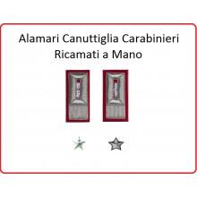 Coppia di Alamari Carabinieri Canottiglia cm 4x10 Sottoufficiali Art.NSD-TAS