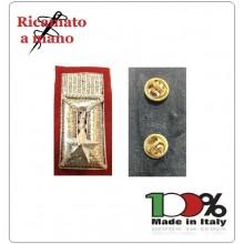 Alamari Sottufficiale Carabinieri con Spille Nuovo Modello Ricamato a Mano 3x6 cm  Art.CC-ALA-S