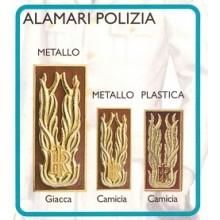 Alamari Mostrine Metallo Polizia di Stato PS P.S. Giacca Camicia Tuta Art.FAV-PS-A