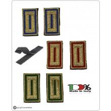 Alamari Ricamati con Velcro Fondo Verde Rosso Blu Per Polo o Camicia e Tuta Operativa Polizia Locale Vigilanza Security Art.NSD-ALA