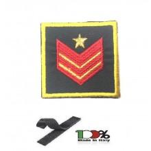 Gradi Velcro per Polo e Tuta OP Guardia di Finanza Appuntato Scelto Carica Speciale GDF 6x6 Art. GDF-OPN