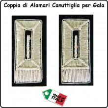 Coppia Di Alamari Per gala Carabinieri con Stella Canuttiglia Ricamati a Mano Art.NSD-GALA-CC