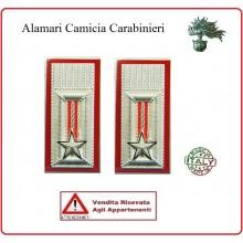 Alamari Metallo Camicia Carabinieri VENDITA RISERVATA  CC cm 2.5x5.5  Art.A-CCM