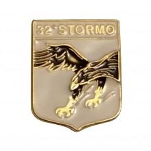 Distintivo Spilla da Camicia o Giacca Aeronautica Militare 32° Stormo Prodotto Ufficiale Art. AM0160P32ST