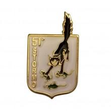 Distintivo Spilla da Camicia o Giacca Aeronautica Militare 51° Stormo Prodotto Ufficiale Art. AM0160P51ST