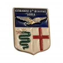 Distintivo Spilla da Camicia o Giacca Aeronautica Militare Comando 1° Regione Aerea Prodotto Ufficiale Art.  AM0160PCO1REAE