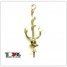 Lancia Puntale Ancora Ottone per Aste Portabandiera Marina Militare Italiana Marinai d'Italia Marò Art.NO-DRK-112