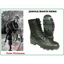 Anfibi Jungle Boots Pelle Cordura Neri Modello Vietnam Cambogia Corea  Art.12826002