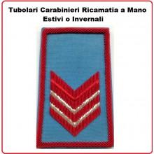 Gradi Tubolari Carabinieri Ricamati a Mano Canuttiglia  New Appuntato Scelto Art.CC-CAN-1